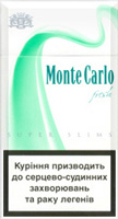 Monte Carlo Super Slims Fresh Menthol Cigatettes