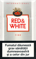 Red And White American Fine Cigatettes